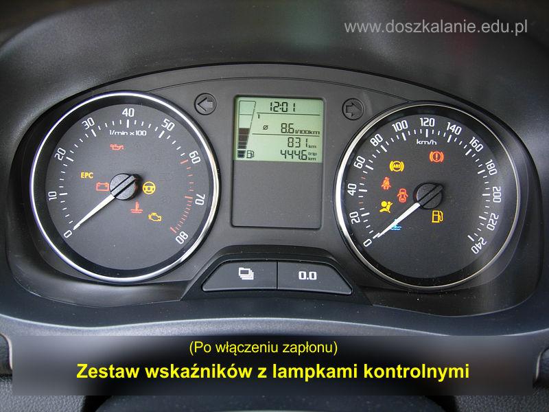 Wskazniki I Lampki Kontrolne W Samochodzie Skoda Fabia